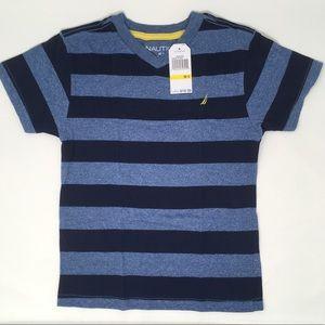 Nautica Boys' Short Sleeve Striped V-Neck Tee 5